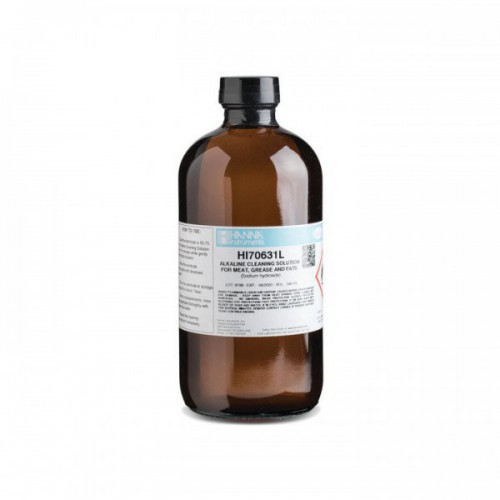 Solución limpieza electrodos alcalina para carne y grasa, 500 ml