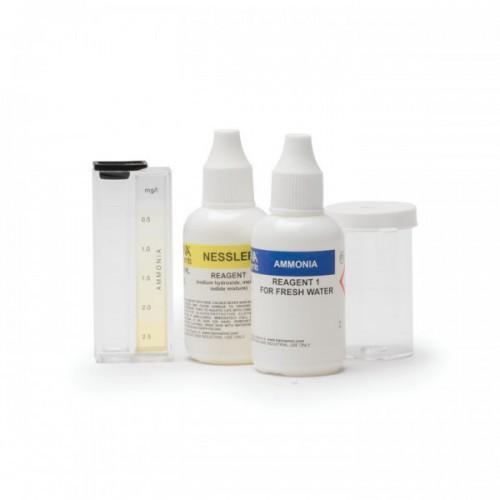 Test Kit Amoníaco (NH3-N) agua dulce (0,0 a 2,5 mg/ L) 25 test