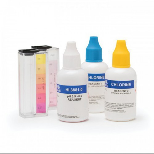 Test Kit Cloro Libre y pH (0,0 a 2,5 mg/ L - 6,0 a 8,5 pH) 50/ 100 test