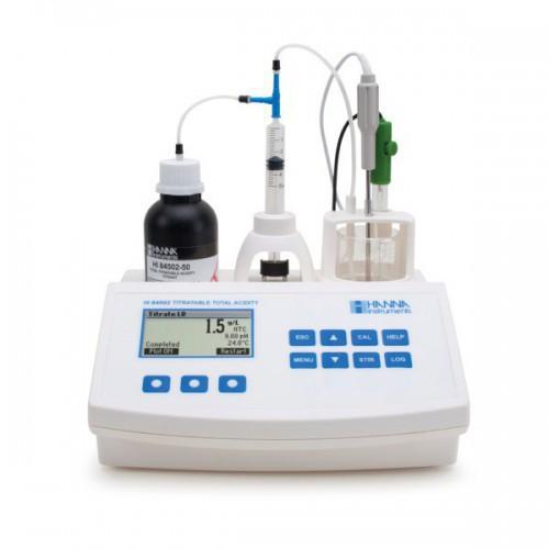 Valorador automático de Acidez Total y pH (Ácido tartárico)
