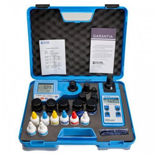 Turbidímetro y Fotómetro multiparamétrico portátil (Cloro Libre y Total/ pH/ Ácido Cianúrico)