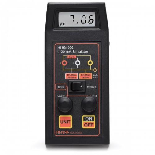 Amperímetro 4-20 mA, simulador y calibrador