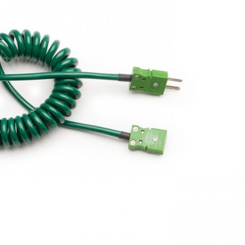 Cable extensible para sondas Termopar Tipo K, 1m