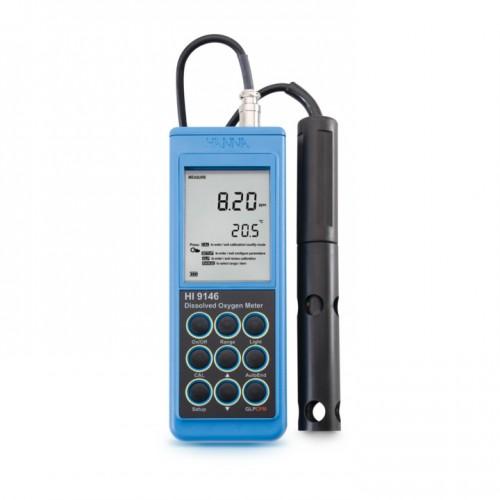 Medidor Oxígeno Disuelto portátil (OD/ % Saturación O2 / Temperatura) con sonda polarográfica