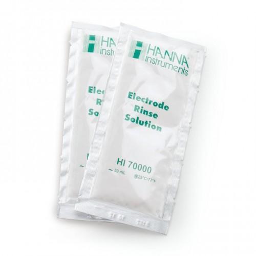 Solución aclarado electrodos desionizada, 25 bolsas de 20 ml