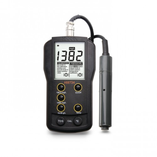 Medidor portátil TDS (0,0 mg/ L a 19,99 g/ L) compensación manual temp