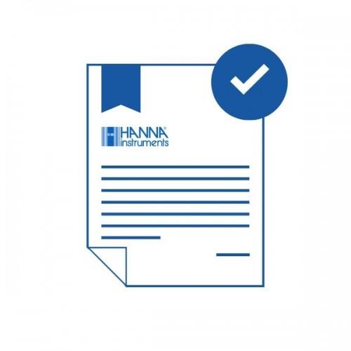Certificado de calibración de parámetro ácido isocianúrico en un punto (75mg/L)