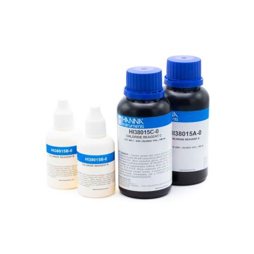 Recambio 100 test para Cloruros Cl- (500 a 10000 - 5000 a 100000 mg/ L)