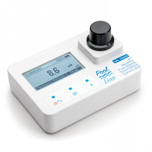Fotómetro portátil Cloro libre, Total, pH, ácido isocianúrico y alcalinidad