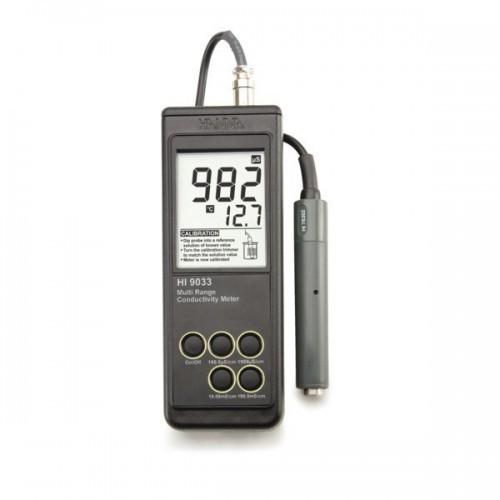 Conductímetro portátil (0,0 microS/ cm a 199,9 mS/ cm) impermeable