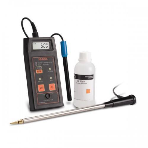 Conductímetro portátil (CE/ Actividad) para medición directa en suelo